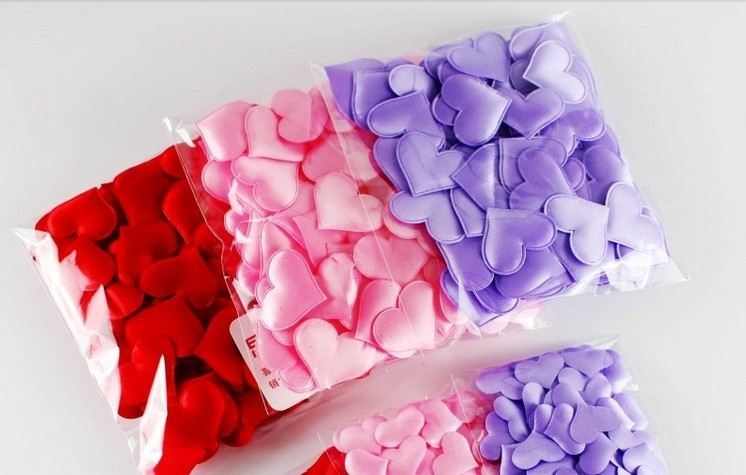 HOT 1000PCS lot Wedding Decoration Throwing Heart Petals Wedding Table Decoration Valentines Day Decoration Party Supply