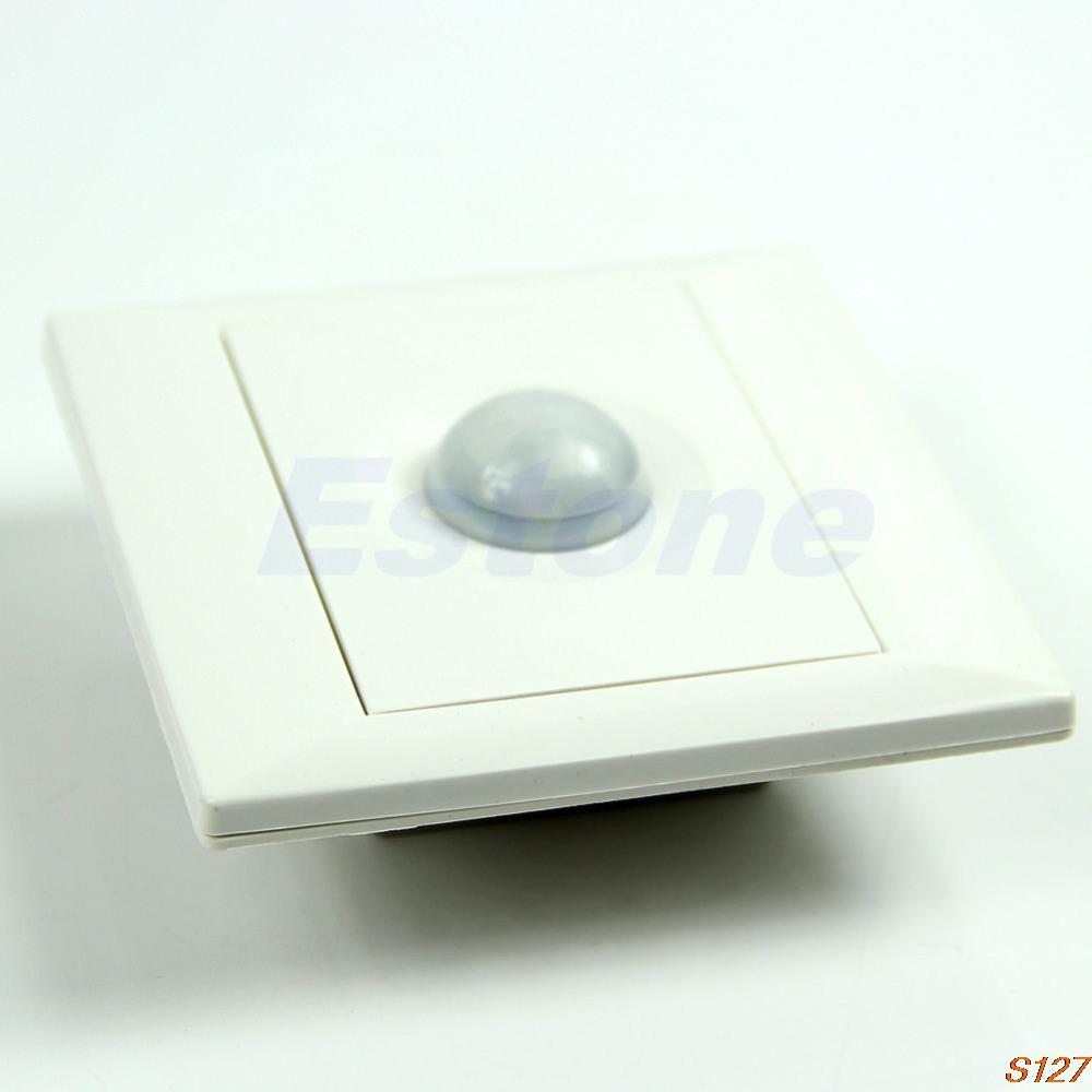 Free shipping IR Infrared Motion Sensor Automatic Light Lamp Energy Saving Control SwitchS127(China (Mainland))