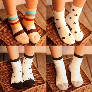 10pairs/lot New kids socks spring fall boy girl ankle socks leisure students sox free shipping(China (Mainland))