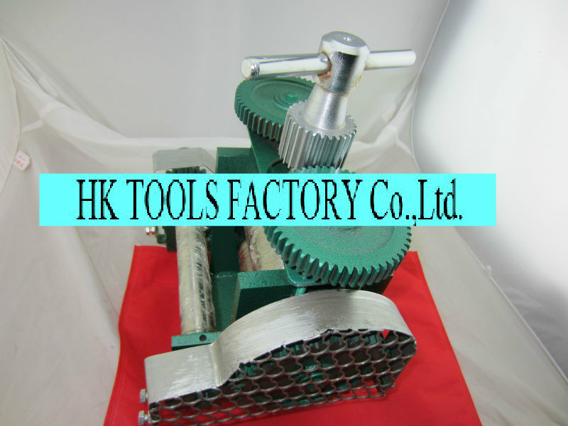 FREE SHIPPING Hand Operated Jewellers Roller Mill rolling mill jewelry making tools with gear Jewelry making tools and machine(China (Mainland))