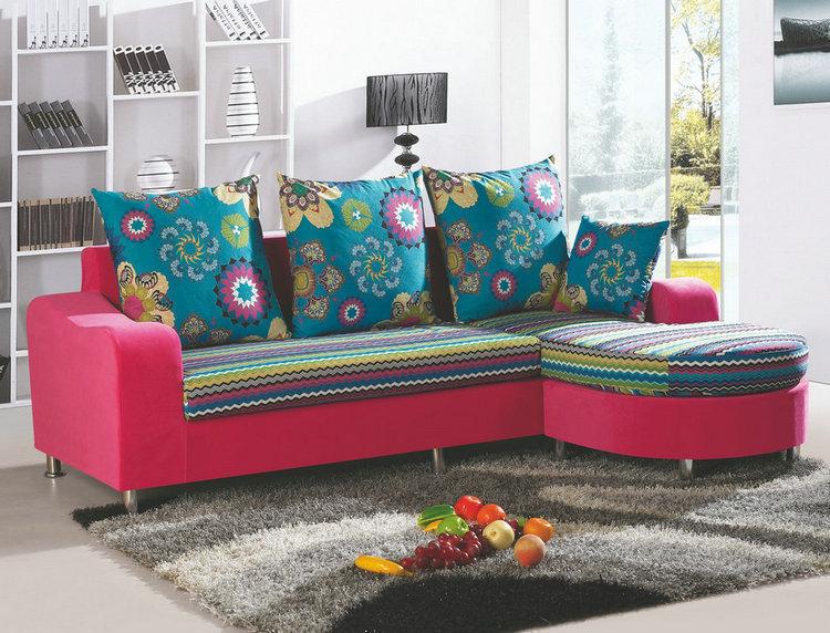 Colorful Small Apartment Sofa Combination Sofa Sets Sofa 2