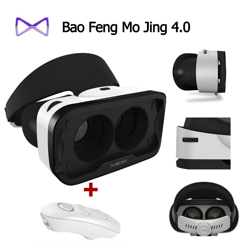 Google Cardboard Baofeng Mojing IIII for IOS, Baofeng Mojing 4 3D Virtual Reality 3D VR Glasses+Bluetooth Wireless Mouse Gamepad<br><br>Aliexpress