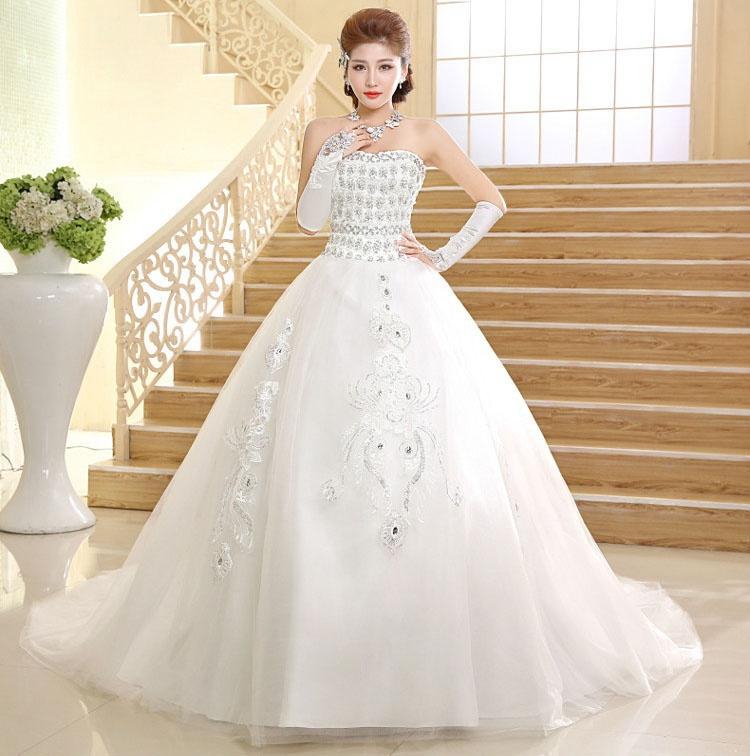 Princess Wedding Dresses Strapless : New designed strapless princess wedding dresses