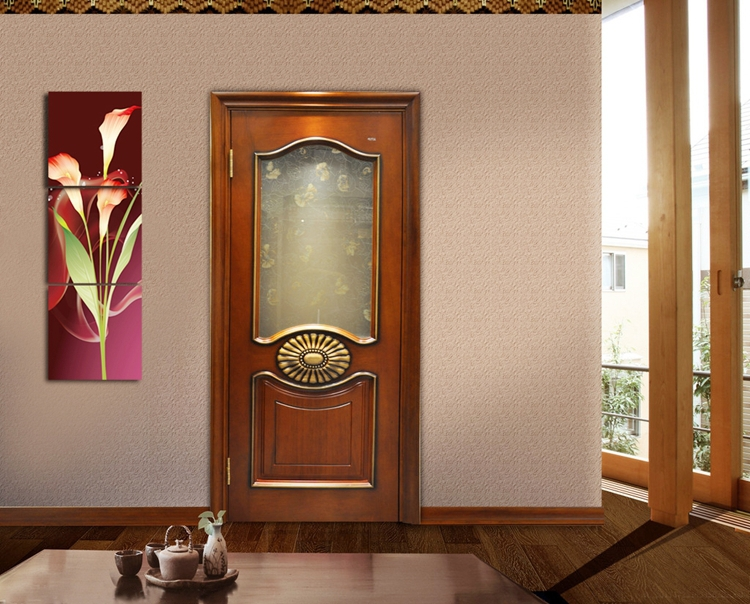3 Panel Canvas Paintings Daffodils Oil Painting Wall Decor Picture Print On Canvas(No Frame)(China (Mainland))