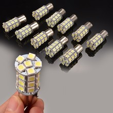 Hot Sale ! 10 X White 1156 BA15S LED 27-SMD Light bulbs Tail Backup RV Camp America Domestic Delivery 30	(China (Mainland))