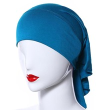New Hot 20 Colors Muslim Women Soft Comfort Inner Hijab Caps Islamic Under scarf Hats(China (Mainland))