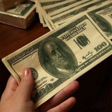 Funny 100$ Dollars Paper Napkin Toilet Tissue US Dollar Bill Paper Towel Novelty Fun Tricky Gift LA877392(China (Mainland))