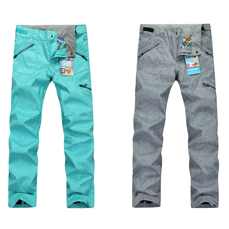Gsou snow ski pants women snowboard pant winter warm waterproof pants windproof 10000/10000 female's snow  snowboarding pants