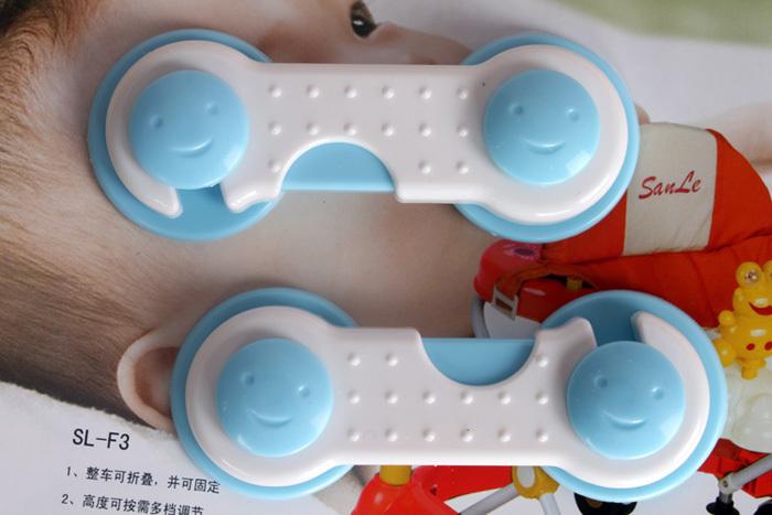 2 X Children Safe Lock Toddler Kids Baby Door Drawer Corner Wardrobe Cute Locker(China (Mainland))
