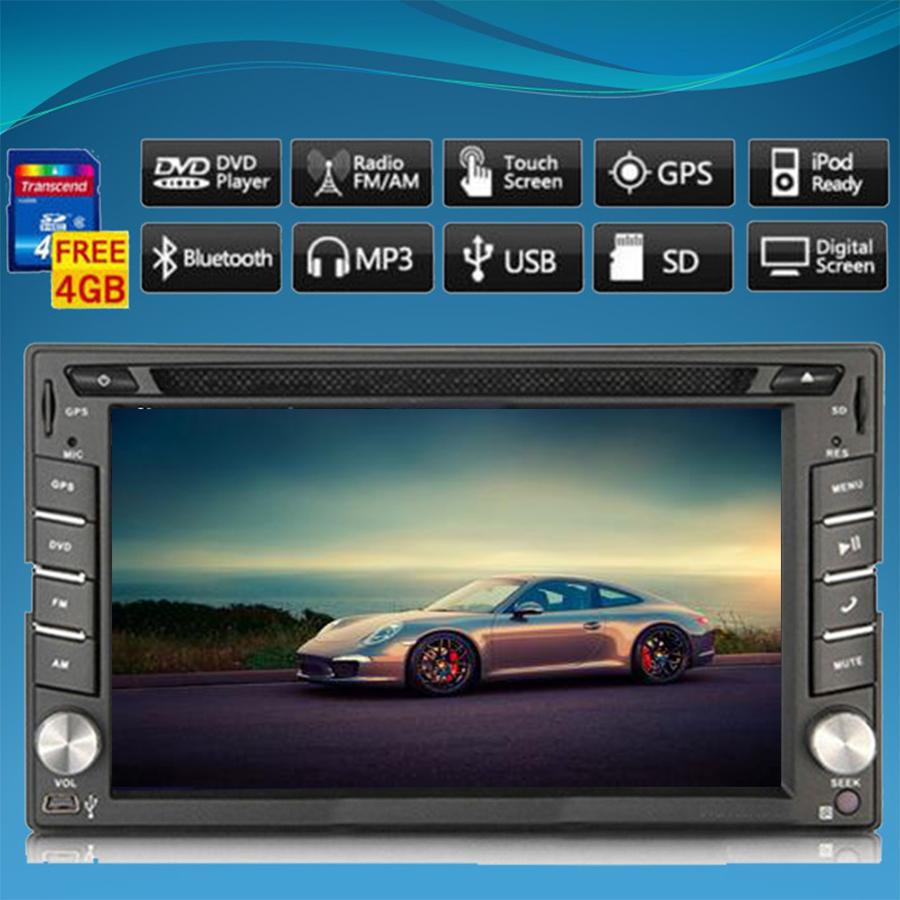 Car DVD Player In Dash Car Stereo Headunit 2 Din Radio GPS Navigation 6.2 inch Digital Touch Screen Bluetooth FM/AM Wince 8.0 UI(China (Mainland))