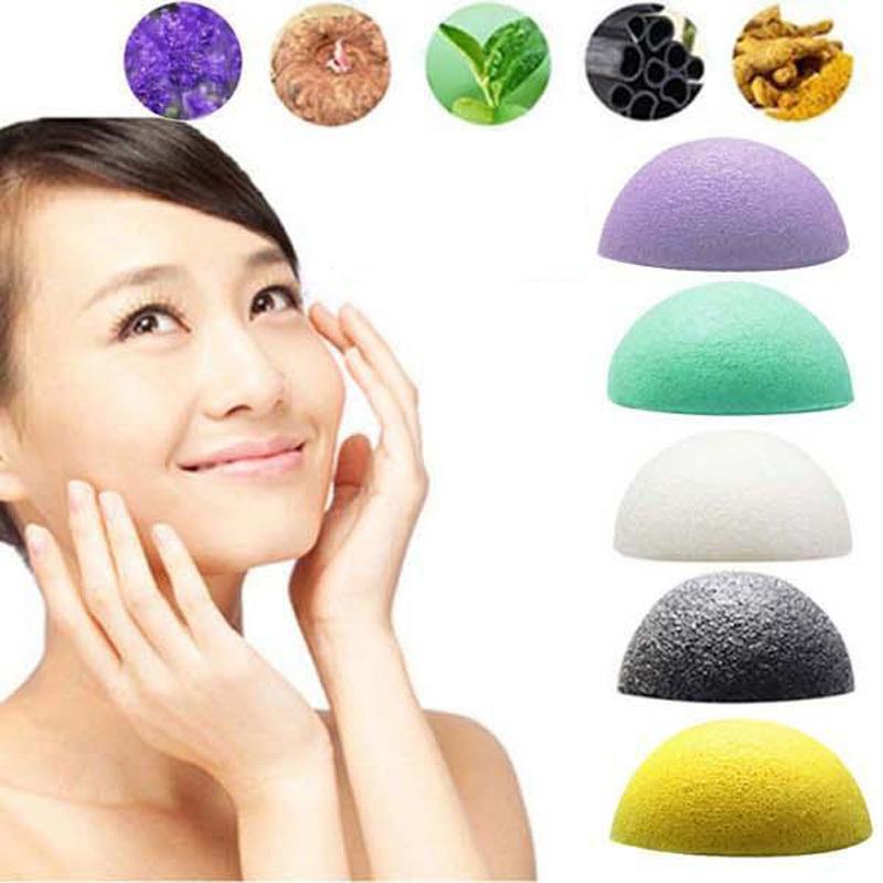 Natural Konjac Konnyaku Facial Puff Face Cleanse Washing Sponge Exfoliator TR High Quality(China (Mainland))