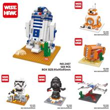 Wisehawk Star wars R2D2 Clone Building Blocks Brinquedos Minifigures Action Figure Kids Toys Starwars Juguetes