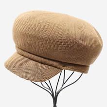SHOWERSMILE موزع الصحف كاب المرأة الصيف بيكر الصبي قبعات مسطحة الإناث تنفس الجوف اليابانية الأزياء قابل للتعديل السيدات غاتسبي كاب(China)