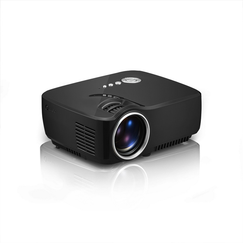 Full hd mini portable projector gp70 home theater led tv for Hd projector reviews