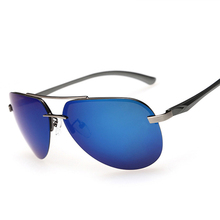 2016 New Fashion Aluminum Alloy Frame Men Polarized Sunglasses High Quality Men's Driving Sun glasses Brand oculos de sol