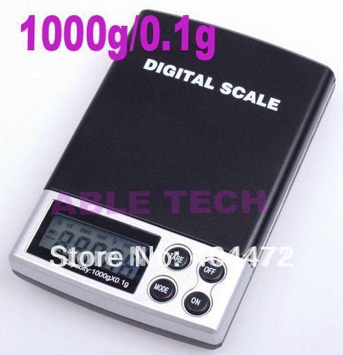 8pcs free shipping Mini 1000 x 0.1 Gram Digital Pocket Scale Jewelry Scale