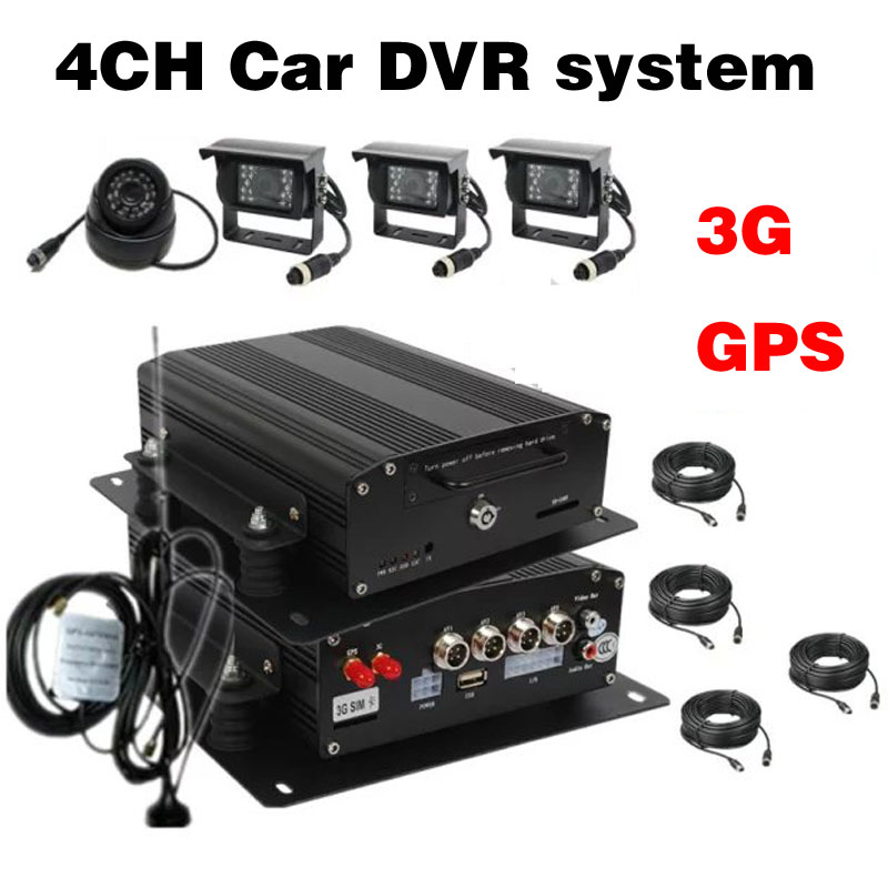4Channel H.264 Real-time HDD Car Vehicle Mobile DVR 3G GPS Car MDVR System waterproof IR Camera 8CH Car MDVR Optional(China (Mainland))