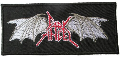 """3.9"""" Dark Angel Music Band Embroidered LOGO Sew On Iron On Patch Emo Goth Punk Rockabilly Customized patch available(China (Mainland))"""