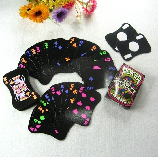 Free shipping playing cards, Soap-shaped fluorescent poker, poker set/magic toys/magic trick,cute,fashion,best gift, 3desk/lot