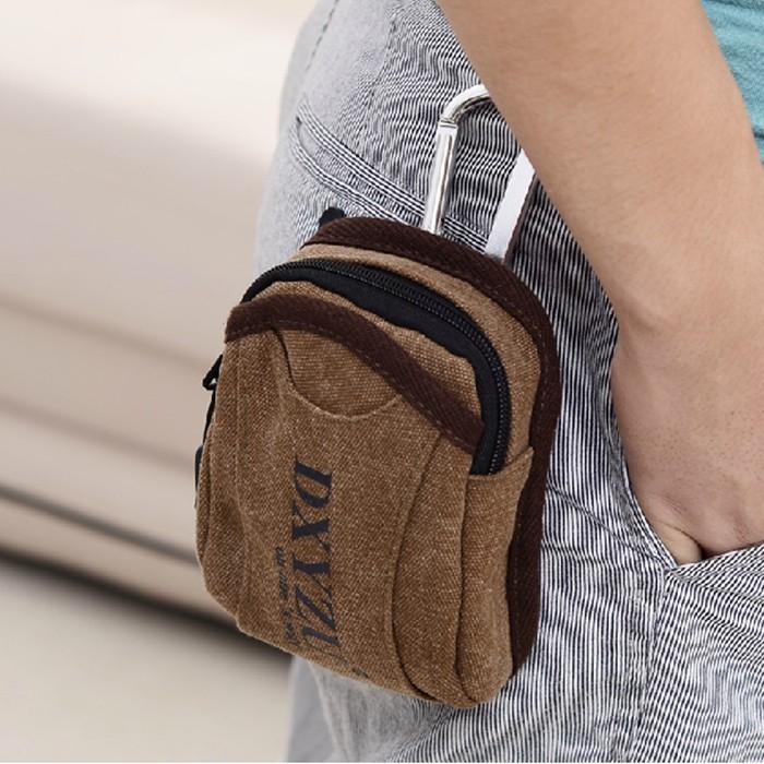 2015 Zipper Men Appliques Real Bolsas Casual Bag Mini Waist Pack Male Multifunctional Canvas Messenger Mobile Phone Running Bags <br><br>Aliexpress