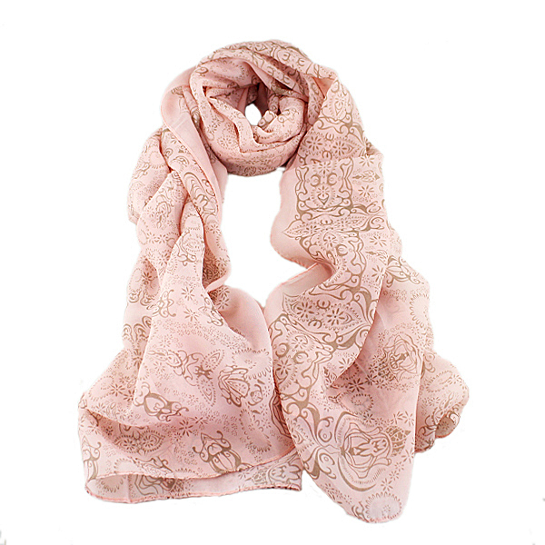 Sweet Fashion Design Ethnic Blue Pink Chiffon Scarves Wraps For Women Apparel Accessories New 2015 Summer(China (Mainland))