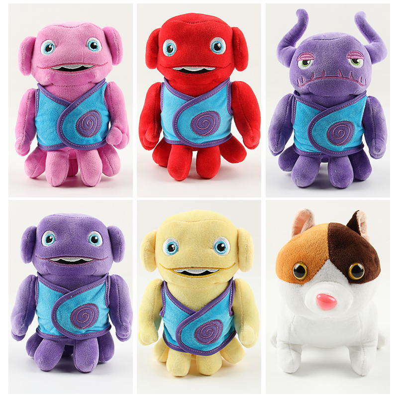 New 2015 Dreamworks Movie HOME OH Boov Alien Stuffed Plush Doll Toys 1pcs 20cm Captain Figure Toys Cartoon HOME Plush In stock(China (Mainland))