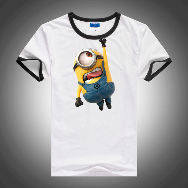 2015 hot sale despicable me minions kids short sleeve t shirt baby children boys t-shirts for kids shirts boys clothes garment(China (Mainland))