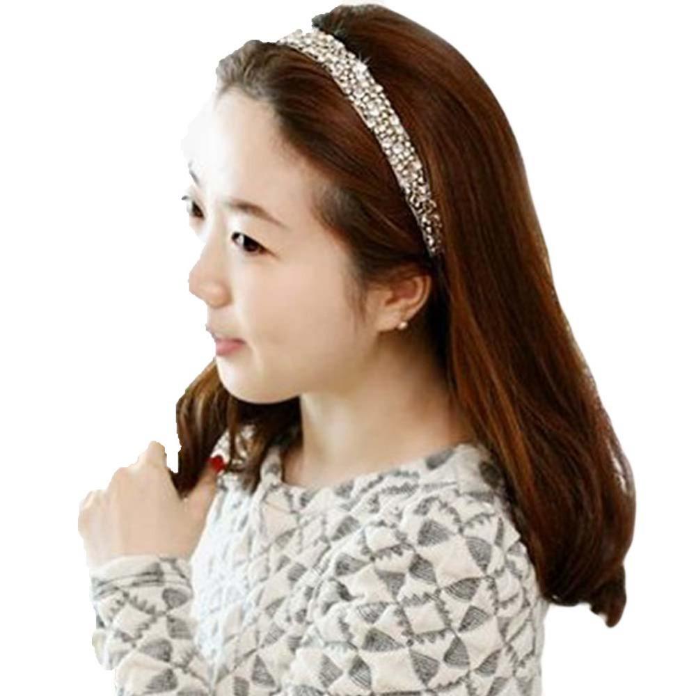 New Hot Fashion Hairband Hair Accessories Handmade Cubic Beads Gems Elastic Headband Drop Shipping(China (Mainland))