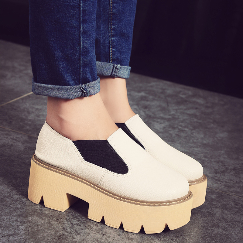 2015 Elastic Booties Girls with Waterproof Bottom Head with Thick Thick Muffin with Round Shoes<br><br>Aliexpress