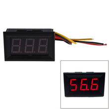 NEW Red LED Panel Meter Mini Digital Voltmeter DC 0 to 99.9V Free Shipping