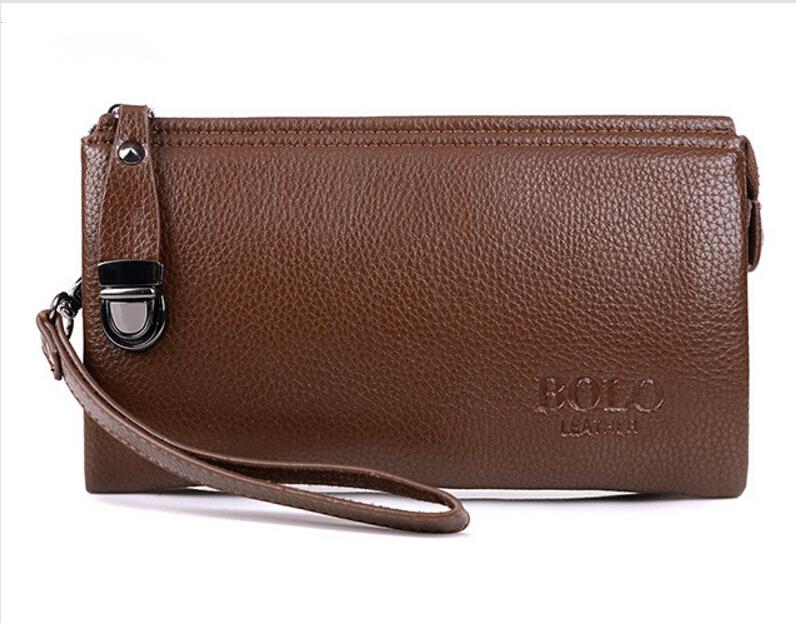 new 2016 men genuine leather wallets purse men clutch bolsa carteira bolsas masculina clutch brand wallet pochette(China (Mainland))