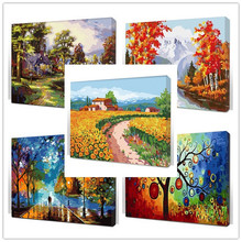 Framed digital oil painting by numbers coloring by number for home decor picture oil painting for wall decor canvas painting(China (Mainland))