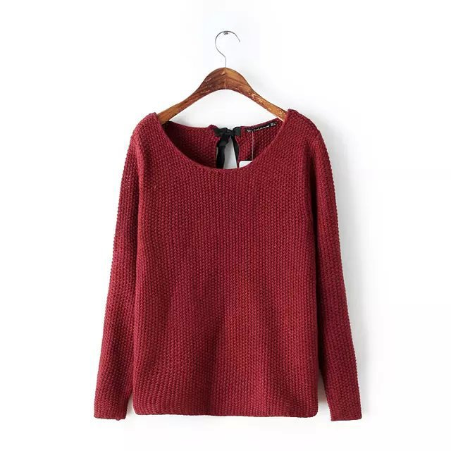 Sweater Real Regular 2015 New Autumn Winter Casual Solid Color O-neck Sleeve Pullover Women Sweaters Zj11 - LITTLE DREAM SHOP store
