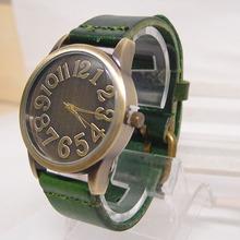 Holiday sale 2015 new arrival Genuine Cow leather watch Men Women ladies fashion dress quartz wrist