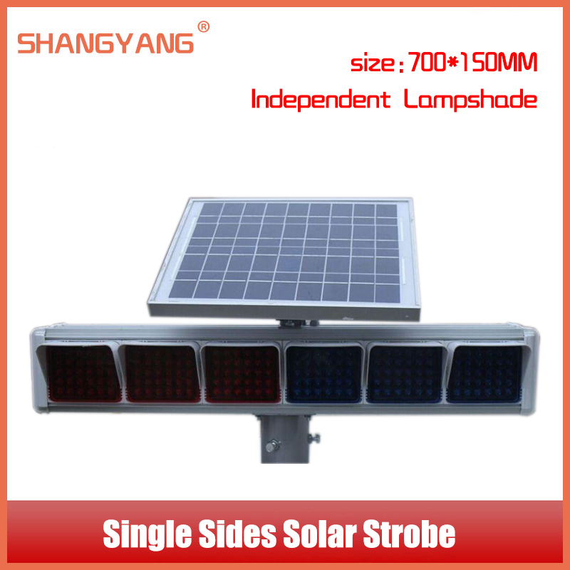 Single Sides Solar Strobe Independent Lampshade Intersection Traffic Lights Solar Warning Light Traffic Facilitie SY-TL005(China (Mainland))
