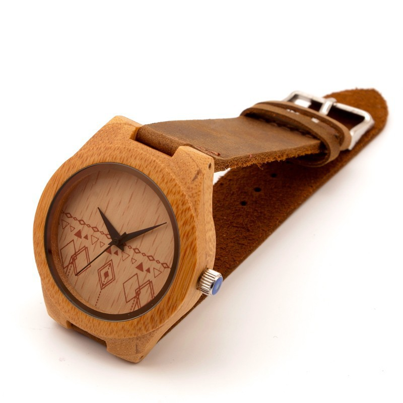 New arrival womens bamboo wood watches japan miyota 2035 movement wristwatches genuine leather bamboo wooden watch with woodbox<br><br>Aliexpress