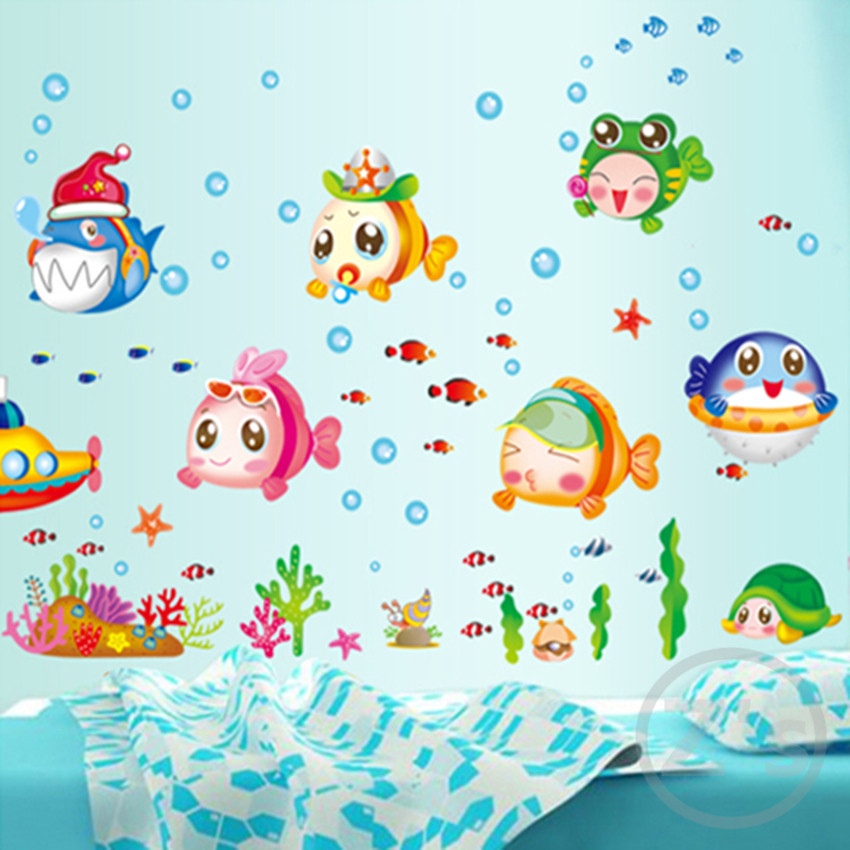 buy nemo fish sea cartoon wall sticker for shower tile stickers in the bathroom. Black Bedroom Furniture Sets. Home Design Ideas