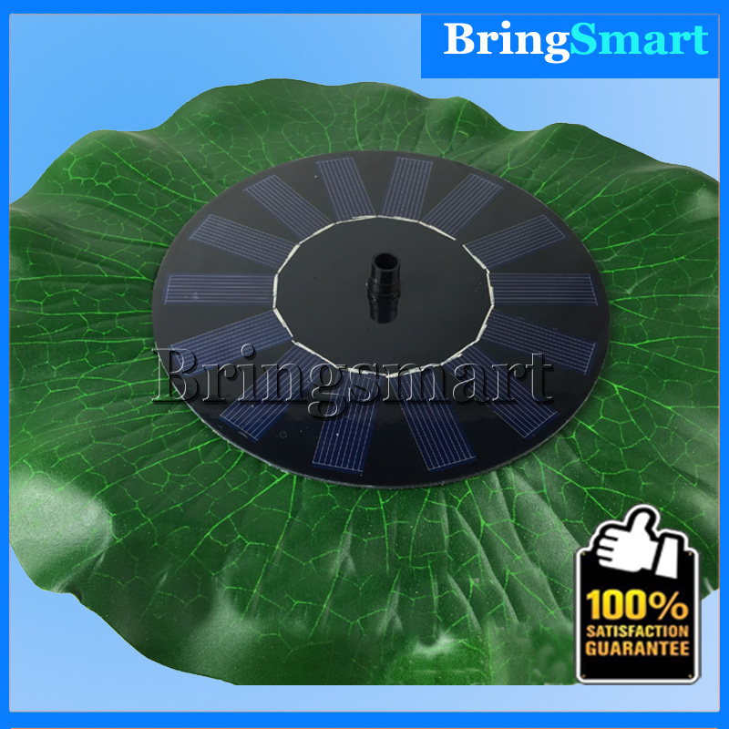 Free shipping JT-160F1HY28 200L/H Mini DC Pump Brushless Solar Water Pump Landscape Fountain Floating Pump with Lotus Leaf(China (Mainland))