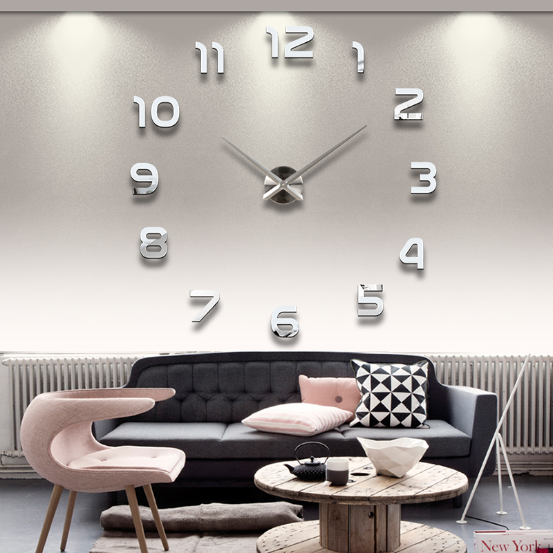 Home decoration!large digital mirror wall clock Modern design,3D decorative sticker clocks.watch wall,unique gifts,F46 - Time Art Gallery----Bring walls to your life ! store