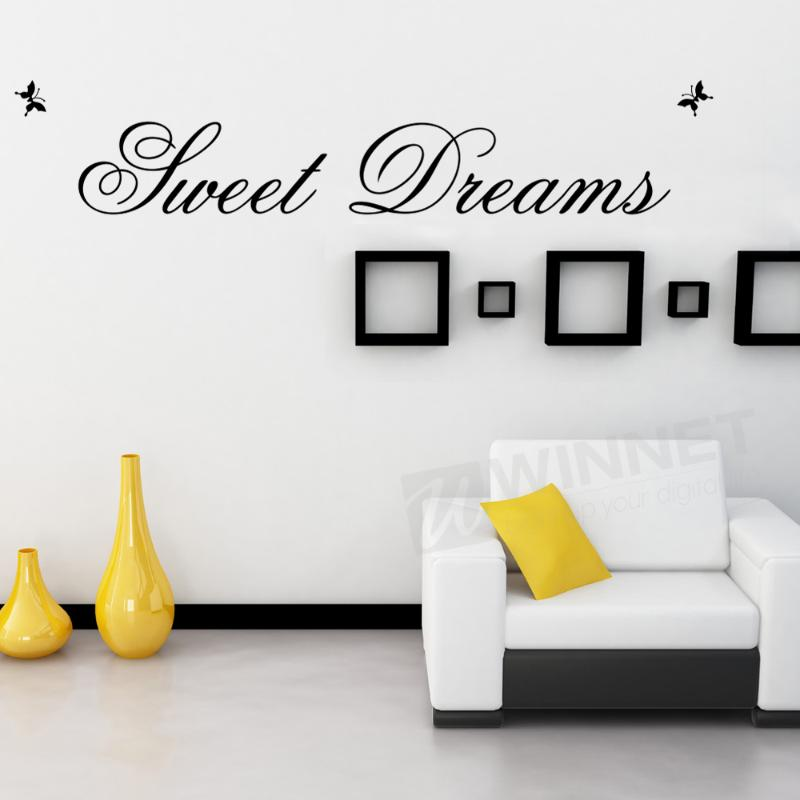 VIVREAL Removable Wall Sticker Decal Room Art Butterfly Sweet Dream Home Wall Decor(China (Mainland))