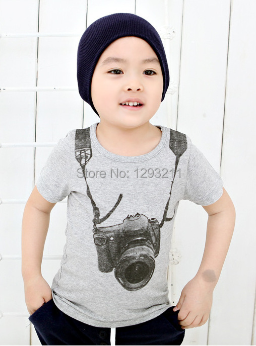 Hot Selling Boys Kids Cartoon Round Neck Short Sleeve T shirt Children s Clothes Quality Wholesale