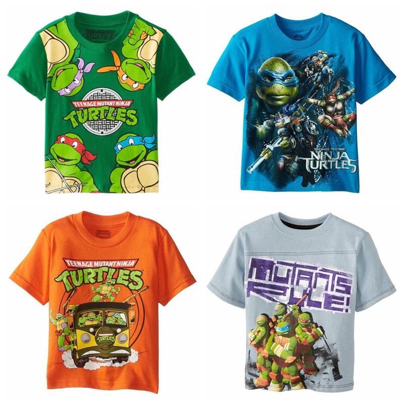 Teenage Mutant Ninja Turtles Boy T Shirts Cartoon Short 2015 New Girls Boys' T-Shirts Kids Sleeve Tee Cotton Baby Tops - Sunny baby's store