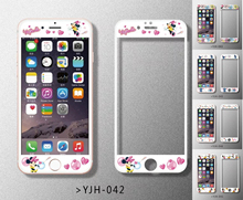 Silk film Screen Protector for iPhone 6 case 6S plus 4.7″ 5.5″inch 0.2mm soft side relief cute Mickey Mouse Kitty Glass film
