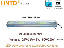 2015 New HNTD42-40W 710mm long 24V-220V LED metal Waterproof explosion-proof  machine lamp led CNC machine industrial bar light(China (Mainland))