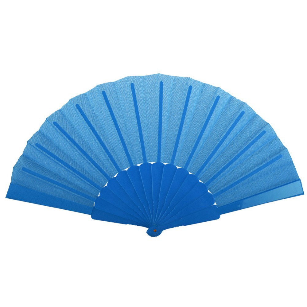 Portable Wedding Bridal Party Favor Plastic Fabric Hand Held Folding Summer Fan 1-east(China (Mainland))