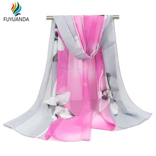 New Design Flower Scarf For Women Scarves And Shawls Luxury Brand Silk Square Pareo Beach Towel Stole Ponchos Capes Wraps Female(China (Mainland))