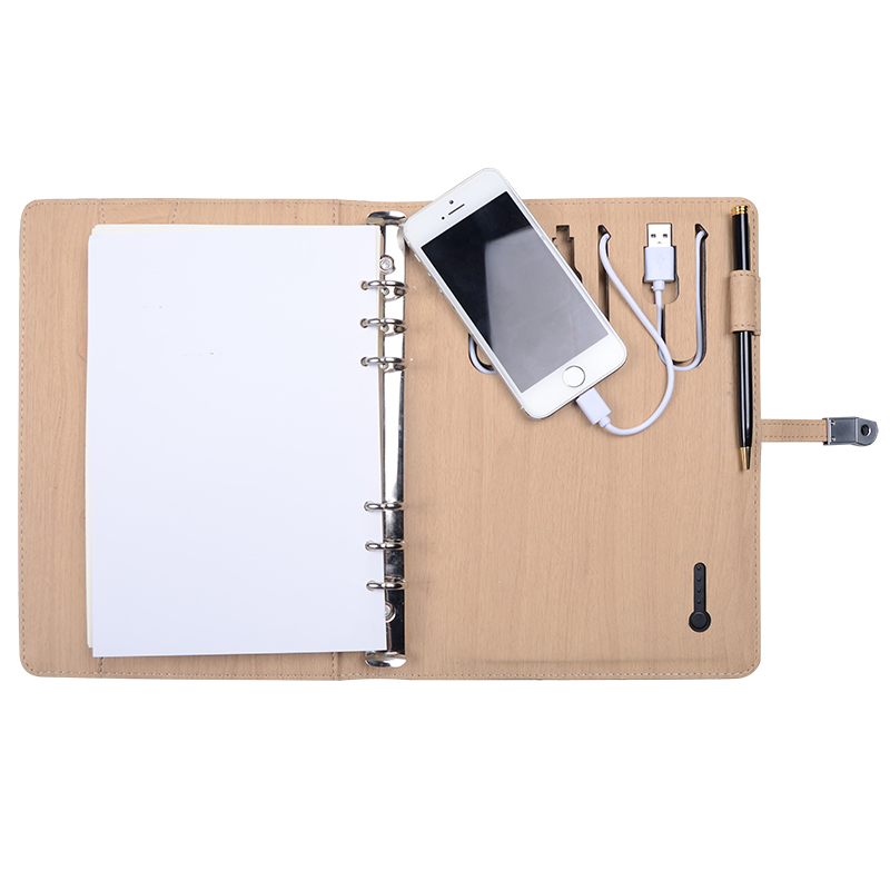 8G USB Portable Source Notebook with 12000 10000 8000 6000mAh Phone Power PU Leather Writing Business Notebook New Design(China (Mainland))