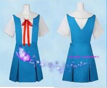 Plus Size Blue EVA Neon Genesis Evangelion Ayanami Rei Cosplay Costume School Uniform Hina Asuka COS Costume