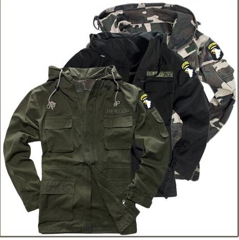 Outdoor climbing desert cross camping Apparel men Jacket coat U.S. military uniform Camouflage U S 101st Airborne Division cool