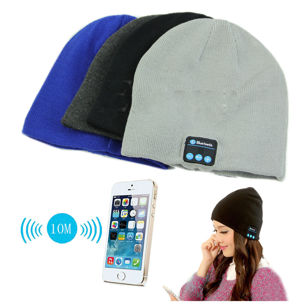 Soft Warm Beanie Hat Wireless Bluetooth Smart Cap Headphone Headset Speaker Mic(China (Mainland))